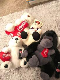 Coca Cola collectible soft toys