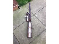 Here I'm selling (both used and a year old) a scorpion decat down pipe and universal sports backbox
