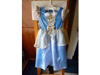 Book Day Cinderella Fancy Dress in blue velour Age 3-4 yrs. £4