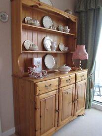 Ducal Pine Welsh Dresser with Under storage