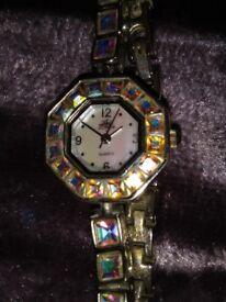 Beautifal rainbow sparkling Kirks Folly watch