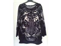Womens Tiger print jumper