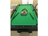 Pool Table - As new , actual play area 1600mm x 780mm, full set of balls, 2no cue's absolute bargain