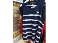Abercrombie sleeveless t shirt size s
