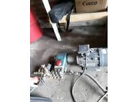 Professional jet wash motor and cat pump with spare pump