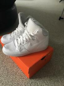 Nike Air Force women's white high tops, size 6, excellent condition