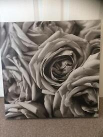 Ikea rose canvas