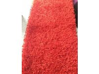 BEAUTIFUL SHINE RED / CHERRY RUG EXC CONDITION