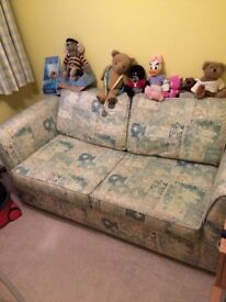 Two seater bed settee in very good condition, need to clear this room out