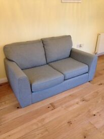 Grey Next two seater sofa, only one year old