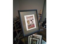 Framed circus print (reproduction)