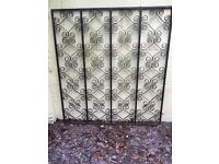 Wrought iron decorative panel approx 143 x 157 cm