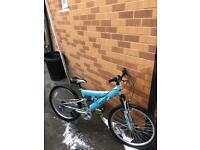 GIRLS RALEIGH TRIUMPH DUAL SUSPENSION MOUNTAIN BIKE LIKE NEW