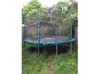 TP 12 foot trampoline with net and surround