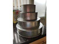 Cake tins various sizes