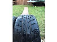 x2 Riken summer tyres. 245x40x18 3.5-4mm