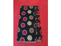 BEAUTIFUL AFRICAN COTTON PRINT FABRIC-SUPER JAVA- Bright Colors -Sold Per Yard