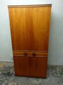 Wood Veneer Double Wardrobe