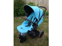 Britax B-Smart Blue Three Wheel Pushchair