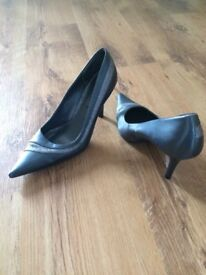 Two pairs of New Look stiletto heels, 40s style and glitter style - great condition, only worn once