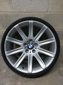 "BMW Style 95 Genuine Borbet Alloy Wheel 19"" Front 9J 5x120 225/35/19 Bridgestone Re050a"