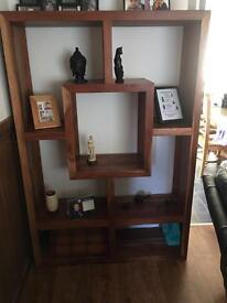 Sheesham shelving unit / bookcase