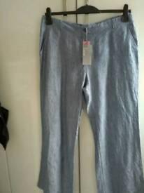 BNWT Linen Denim Trousers