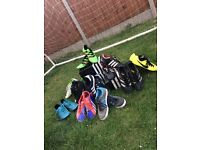 10 pairs of trainers / football boots sizes 5 to 7