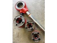 """Ridgid Pipe Threader ½"""", ¾"""", 1"""" As new condition"""