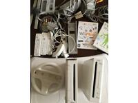 TWO NINTENDO WII WITH ALL THE ACCESSORIES