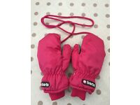 Barts Child Ski Mitts size 4 6-8 yrs (worn for 1day)