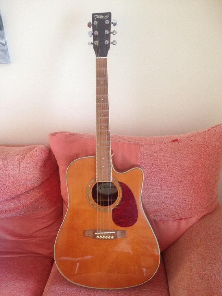 22a445a158b Compania Natural Colour Cutaway Acoustic Guitar