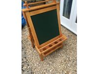 GLTC Wooden Children's Easel with Whiteboard and Blackboard!