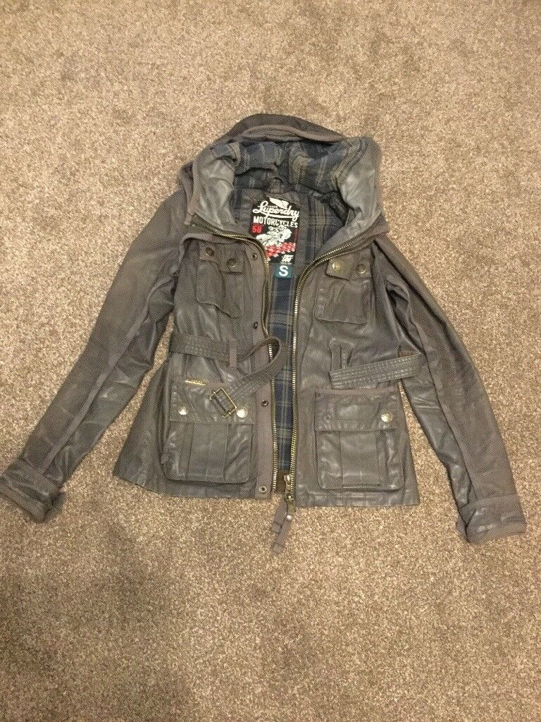 Superdry Ton Up 58 Ladies Motorcycle Jacket - Size Small