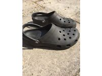 Size 11 Genuine Black Crocs, only worn a few times
