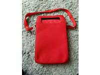 Red tablet small laptop bag Belkin