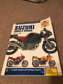 SV650/ SV650S Haynes Manual 99-08