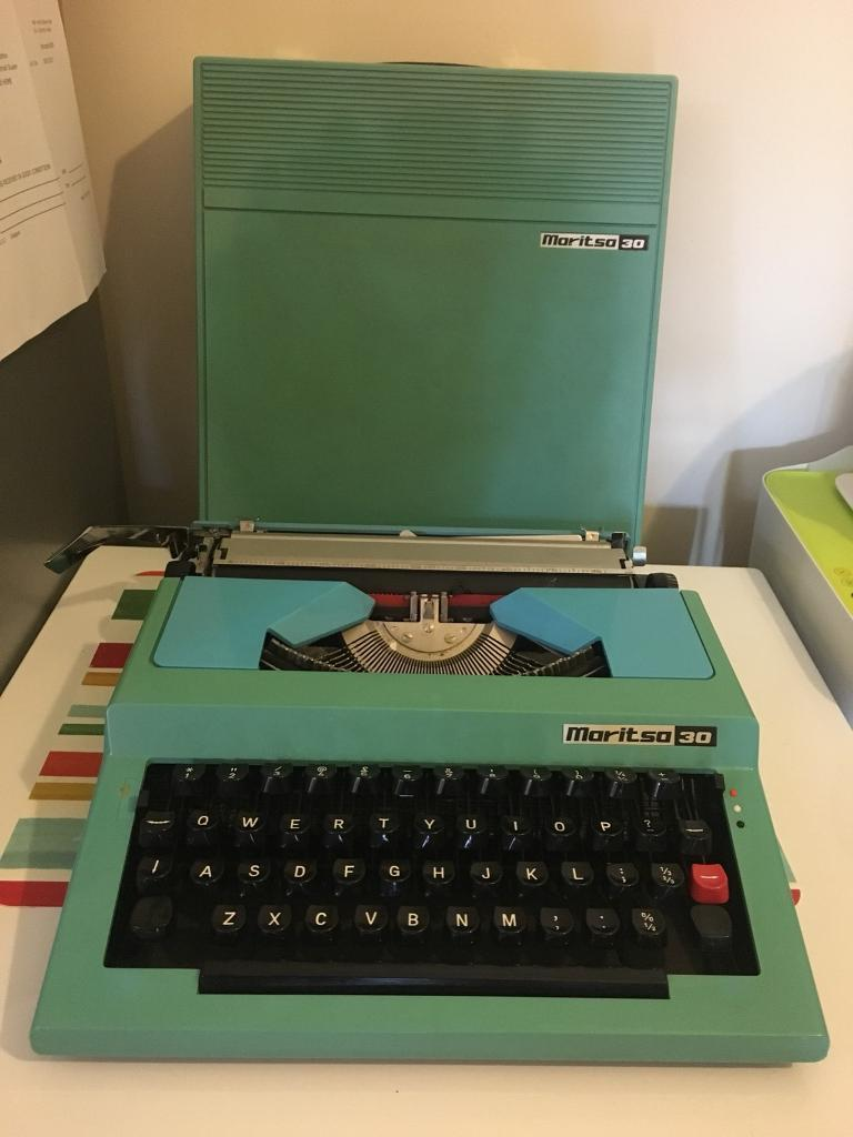 Vintage 1970's 'Maritsa 30' Blue Typewriter For Sale