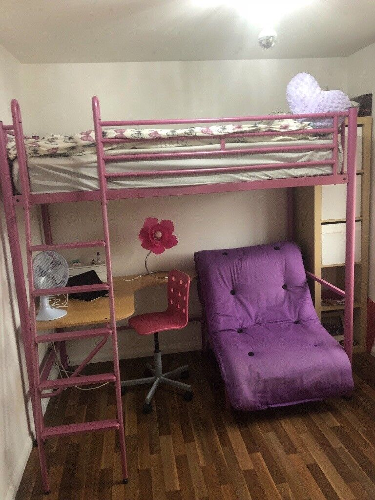 Jay Be Studio High Sleeper Bed With Integral Desk And Futon In Hucknall Nottinghamshire Gumtree