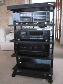 Pioneer Hi Fi System very good condition with Hi Fi stand, Amp, Tuner, CD player and Cassette deck