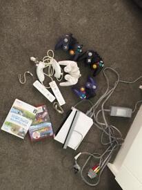 Nintendo Wii, woo controllers, GameCube controllers, Mario Kart Double Dash & Wii sports