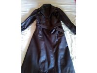 Stylish maroon colored Leather coat for sale