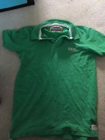 Men's green polo shirt