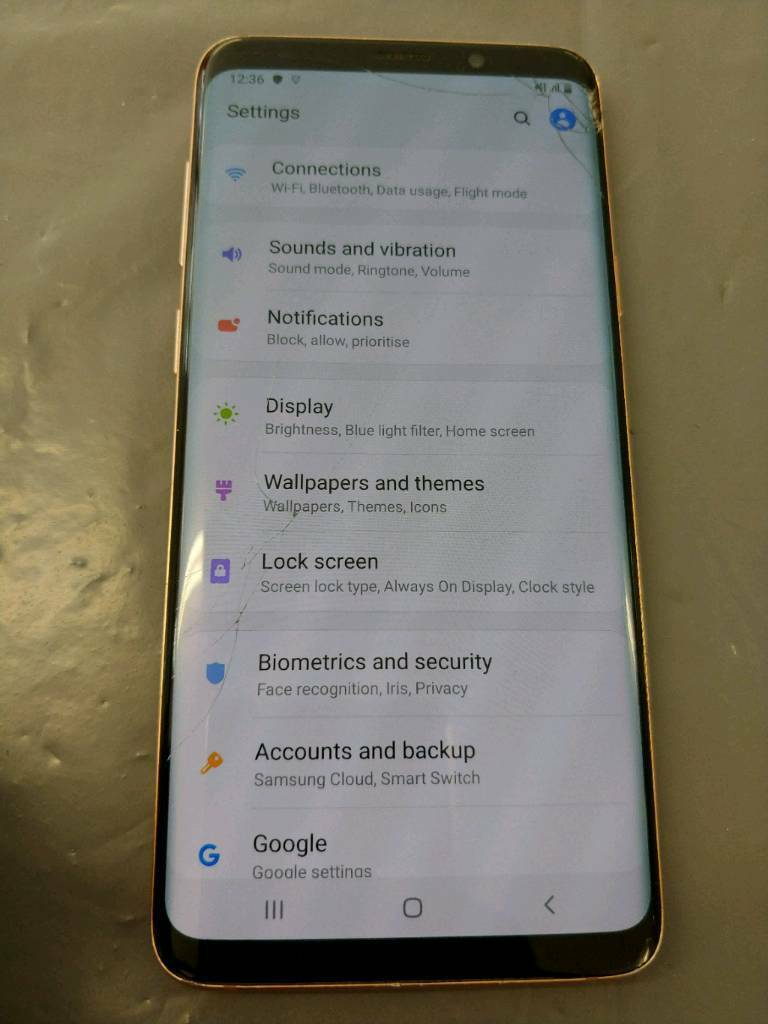 SAMSUNG GALAXY S9 PLUS 256GB GOLD UNLOCKED (CRACKED SCREEN) | in Southsea,  Hampshire | Gumtree