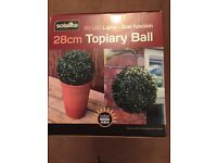 28cm Topiary Ball 20 LED Lights X2