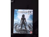 Underworld Quadrilogy blu ray box set brand new unopened sell or swap for other blu ray box set