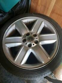 Land rover, transporter t5, alloy wheels and tyres