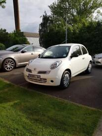 Nissan Micra Visia 1.5dCi white £30 road tax/year