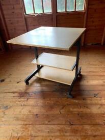 Rollaway office desk table