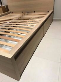 Ikea MALM EU Kingsize bed with draws